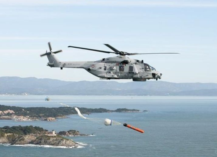 A French navy NH90 Caiman anti-submarine warfare helicopter seen ...