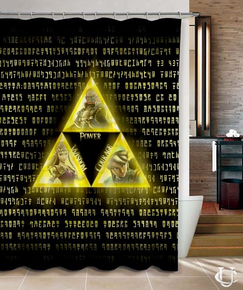 The Legend Of Zelda Triforce Shower Curtain Cute Shower