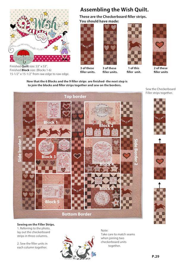 P29.Wish Quilt-Finishing | SEASONAL | Pinterest | Red brolly ... : red brolly wish quilt - Adamdwight.com