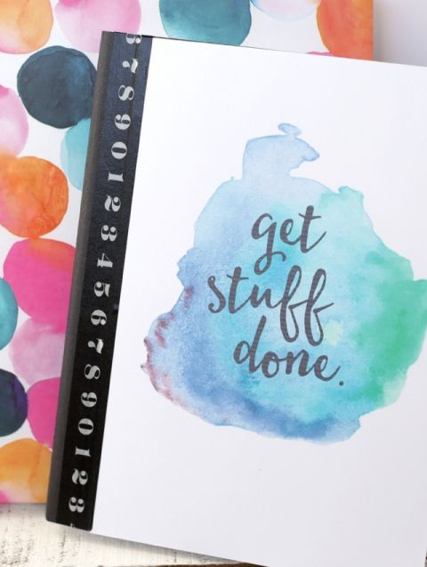Free Printable Watercolor Notebook Covers Diy Notebook Cover