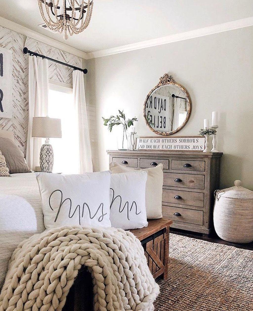 30 Enchanting Farmhouse Bedroom Ideas For Your House Design Master Bedrooms Decor Master Bedroom Ideas Farmhouse Relaxing Bedroom Farmhouse style bedroom decor