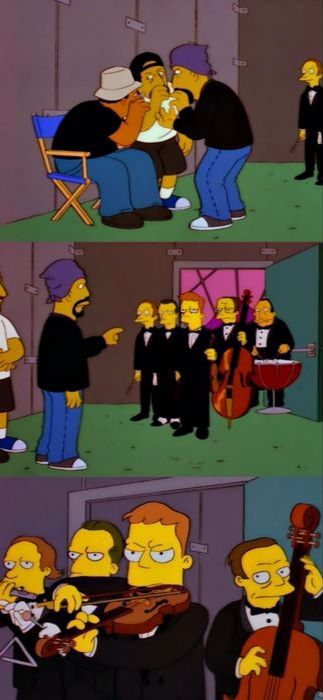 Did anyone order an orchestra? Possibly while high... Cypress Hill, I'm looking in your direction!