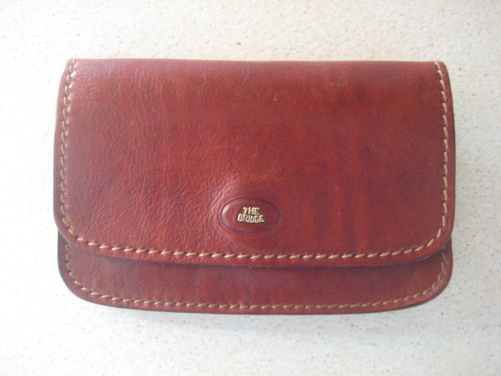 The Bridge Rich Conker Brown Vintage Italian Leather Wallet Purse Superb