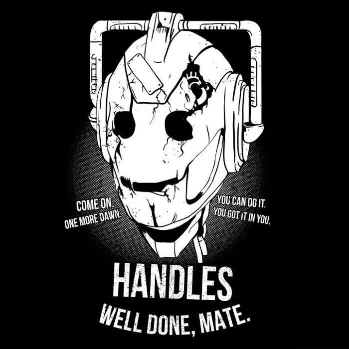 Handles the cyber man head