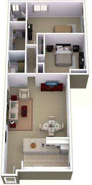 Park La Brea Print Floor Plans Apartment Living Flooring