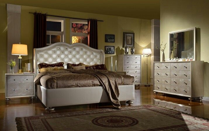 The bed!!! Bling and nail studs!! Mega Furniture | Furniture