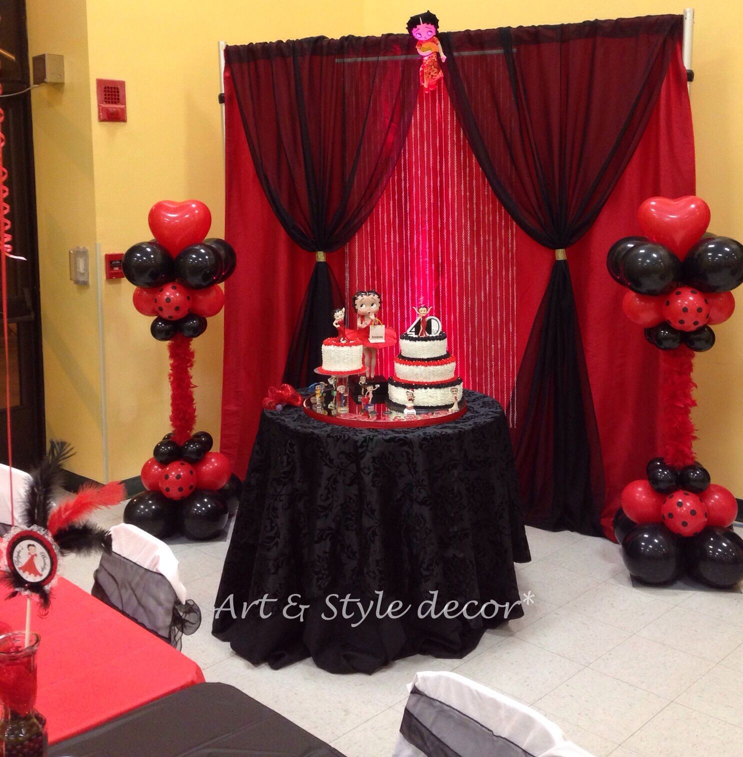 Betty Boop Cake Area Decor Themed Party. #