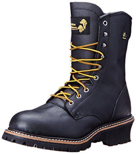 Golden Retriever Men's 9207 Waterproof Logger, Black, 13 M US