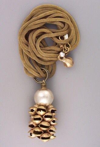"India brass ""dancing bells""...Thailand fine silver...vintage brass mesh...sandblasted sterling... teripelio.com"