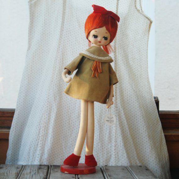 Vintage 1960s Herman Pecker Jill Doll