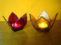 Candle Holder Lotus-Stained Glass