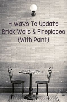 White Brick Wall Diy   Google Search