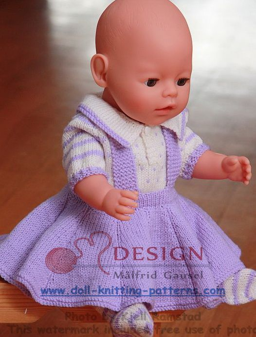 Puppen-strickmuster | Doll-knitting-patterns from Malfrid Gausel ...