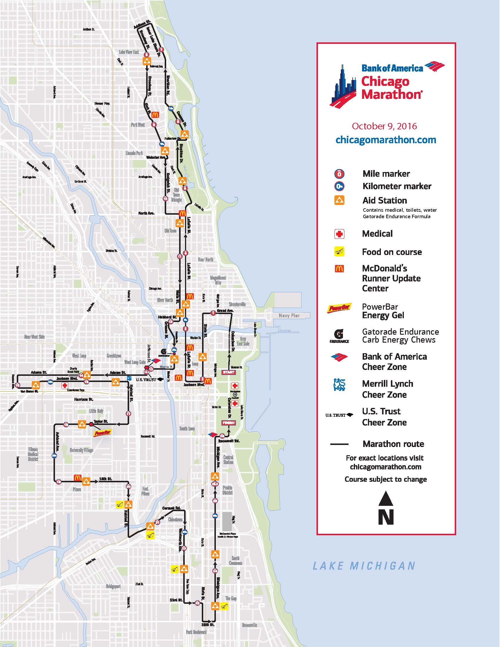 Chicago Marathon Usa Map Usmap Map For Traveling To USUSA - Chicago on a us map