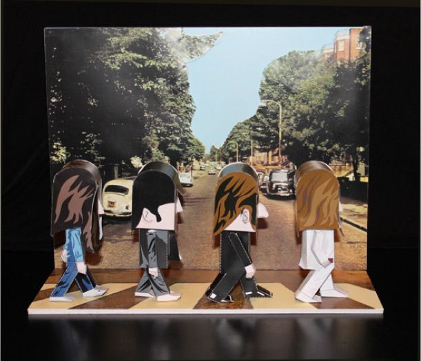 Papertoys The Beatles by Gary Willis