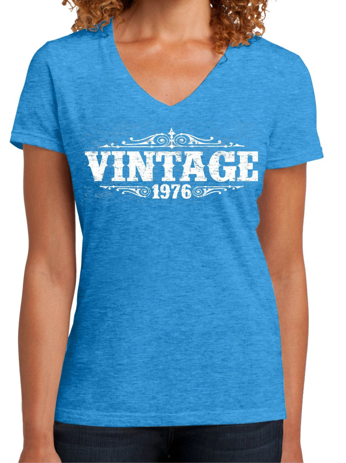 40 Years Old WOMENS VINTAGE 1976 TEE 40th Birthday For Her Shirt Mom Is By BluYeti On Etsy