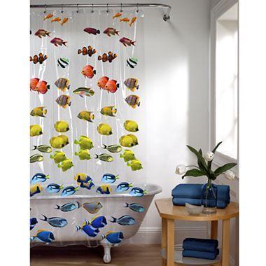 New School Vinyl Shower Curtain