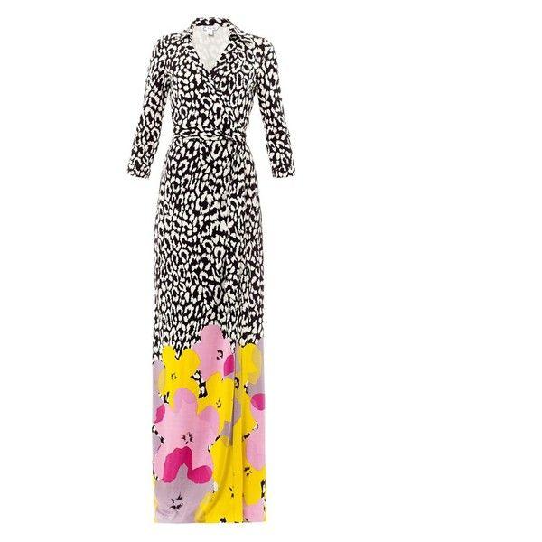 DIANE VON FURSTENBERG Pop Wrap Limited Edition Abigail dress found on Polyvore