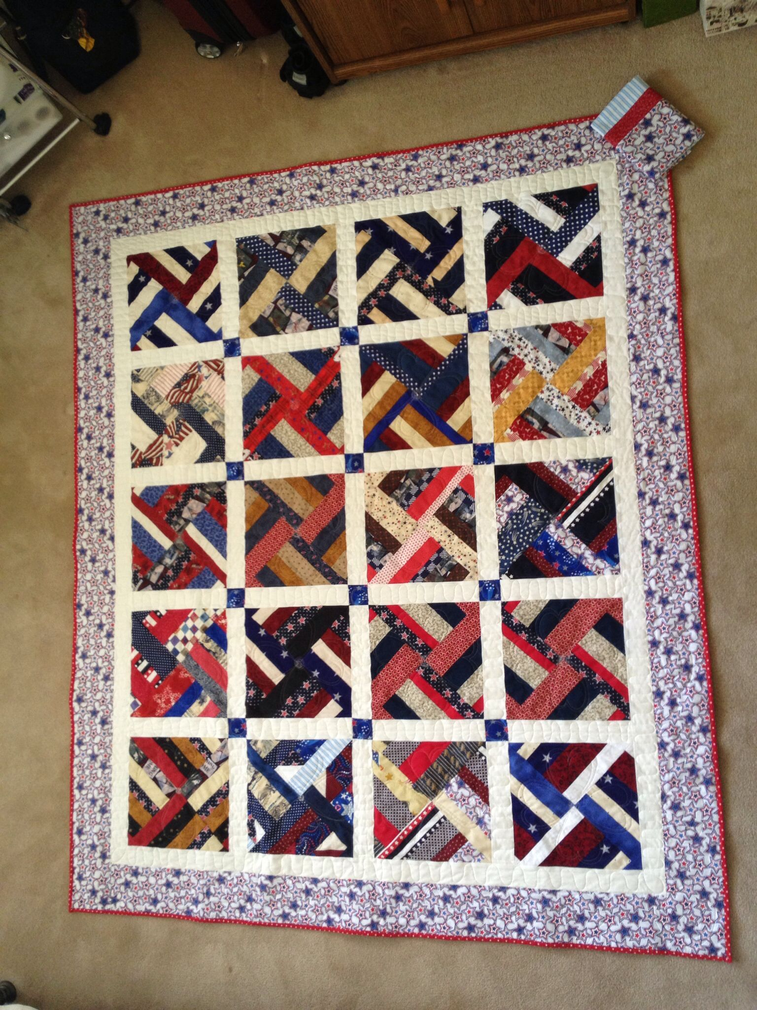 QOV pieced by members of QGbtS quilted by Susan Freudenthal may