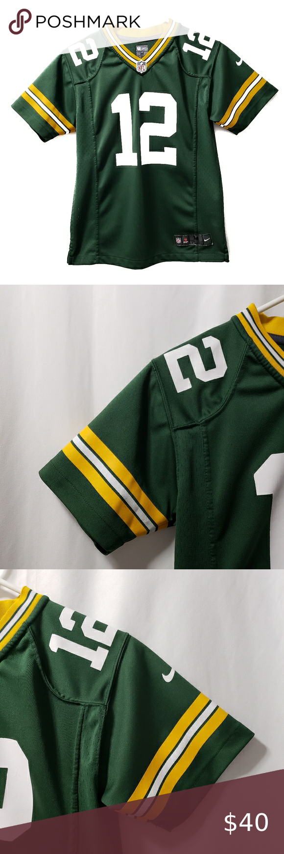 Green Bay Packers Nike Jersey Rodgers 12 Kids M In 2020 Nike Jersey Green Bay Packers Clothes Design