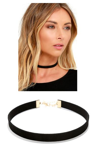 Love Connection Black Suede Choker