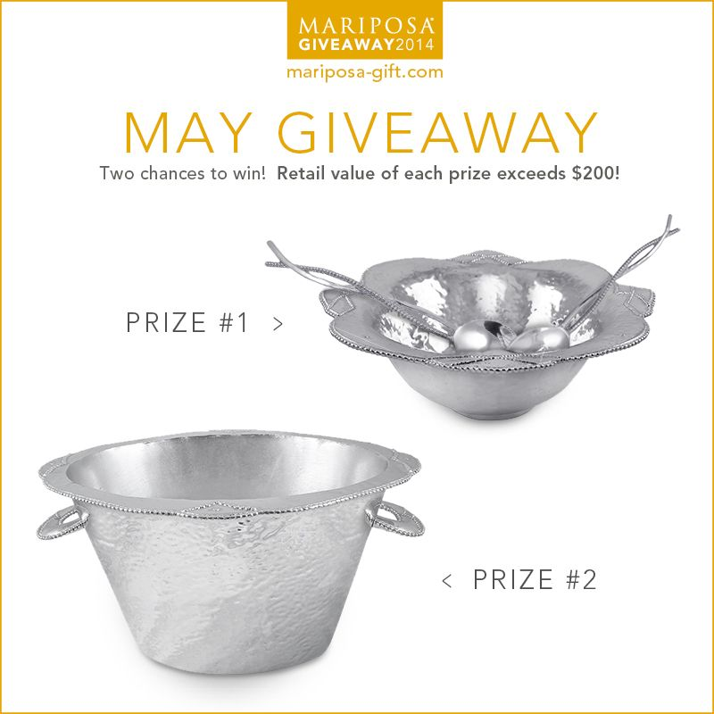 Enter to win a beautiful serving bowl and salad servers from Mariposa!