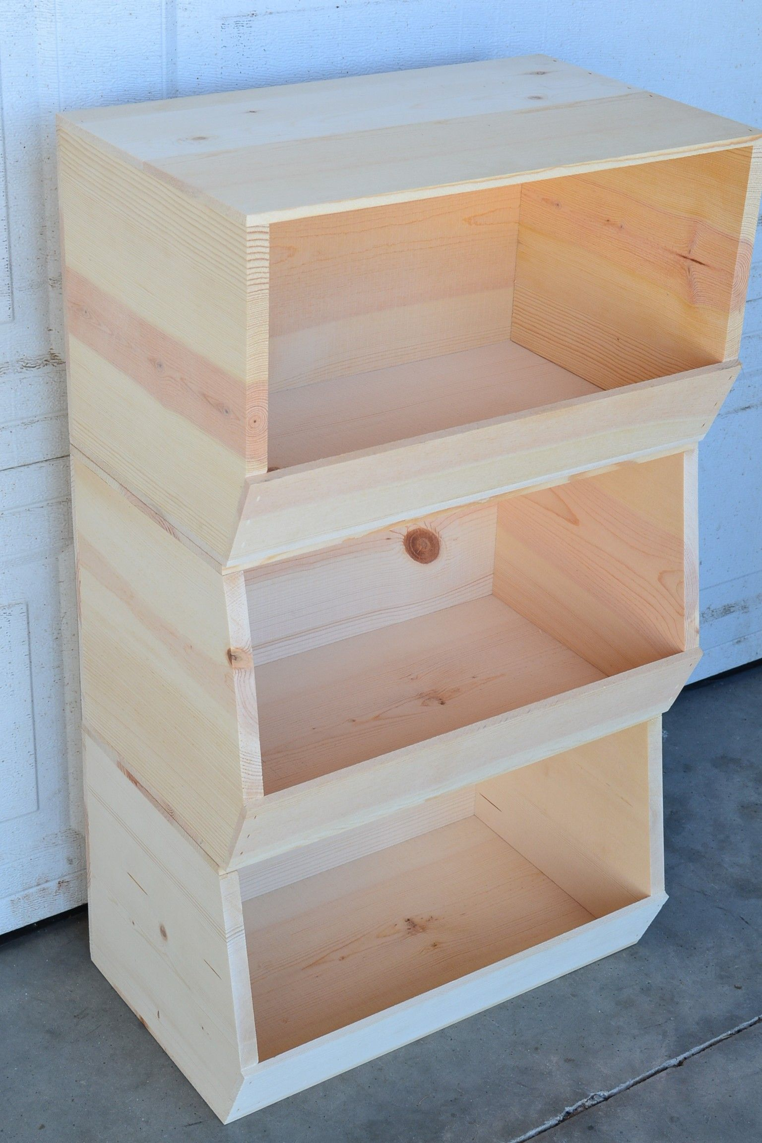 Stackable Storage Bin Poole Sons Inc Stackable Storage Bins Stackable Storage Wooden Storage Bins