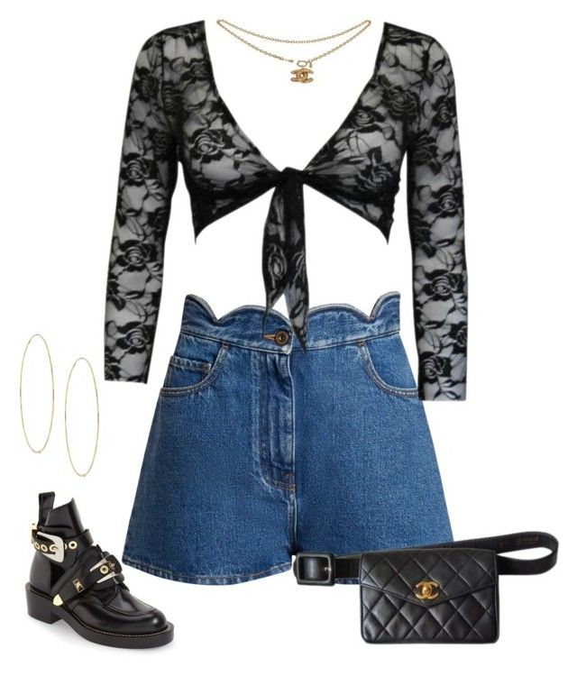 """solo."" by fauxangel ❤ liked on Polyvore featuring Balenciaga, Valentino, Chanel and Lana"