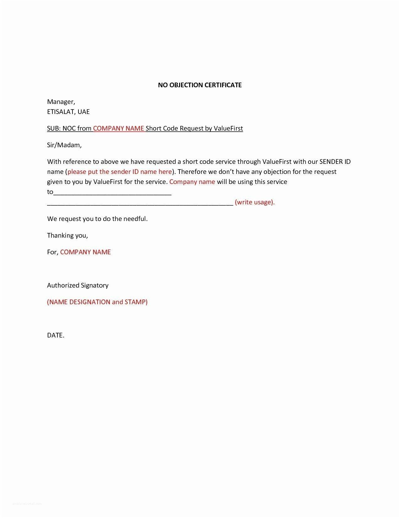 Download Fresh Noc Letter For Job Lettersample Letterformat