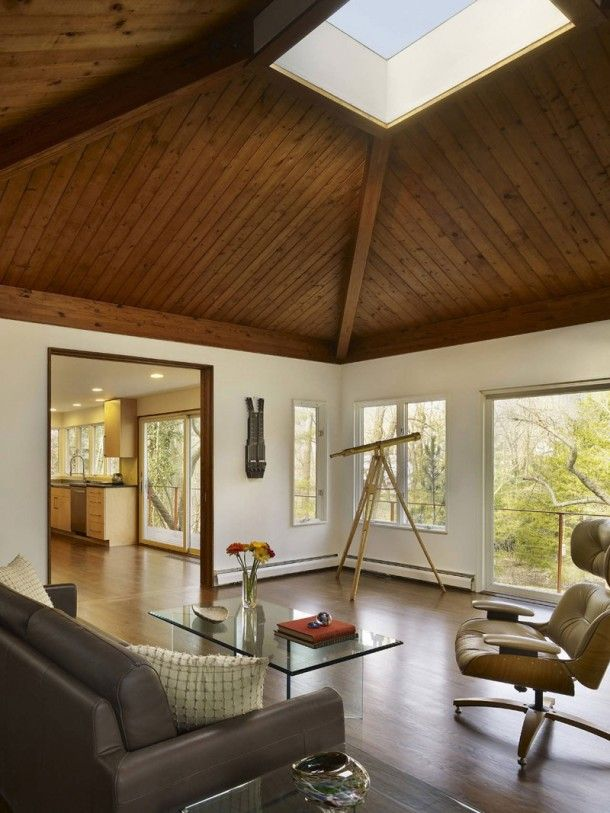 House Living Room Wooden Ceiling Minimalist Decoration - pictures, photos, images