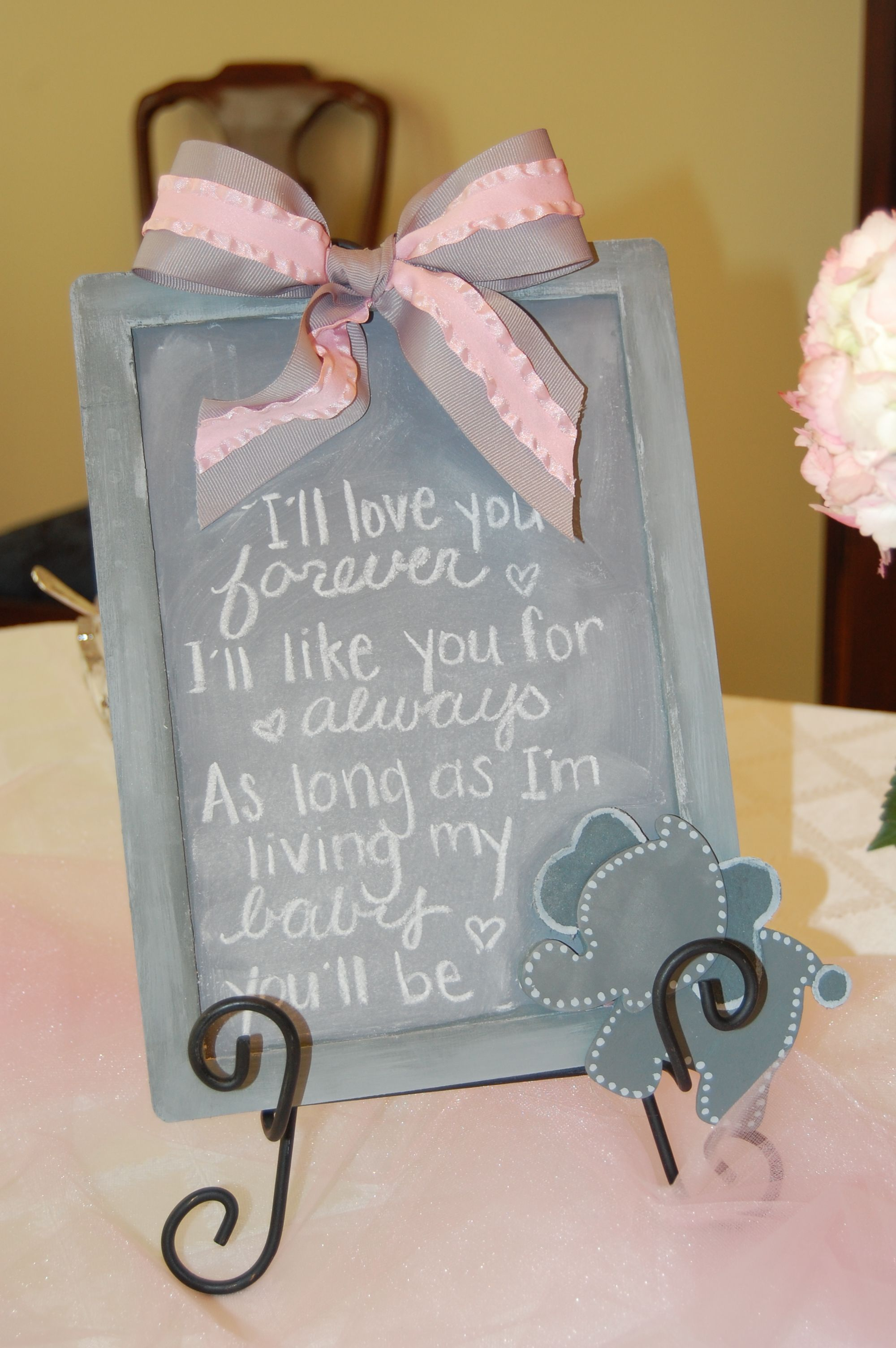We Heart Parties Party Information Pink and Grey Elephant Theme