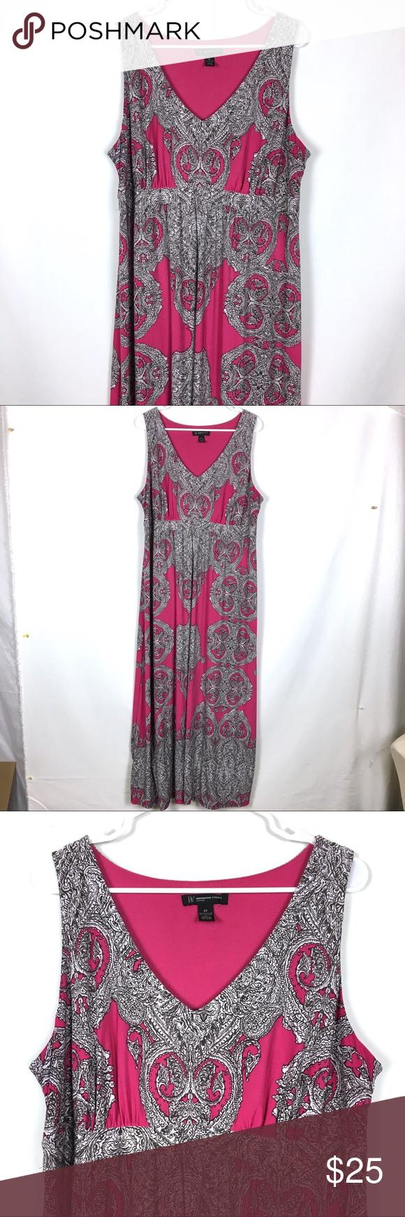 Inc Maxi Dress Sleeveless Pink Black 2x Maxi Dress Long Summer Dresses Maxi Long Maxi Dress [ 1740 x 580 Pixel ]