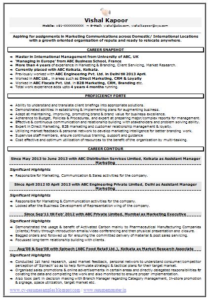 Market Research Associate Sample Resume Zahidhussain Zahidhussain1113 On Pinterest