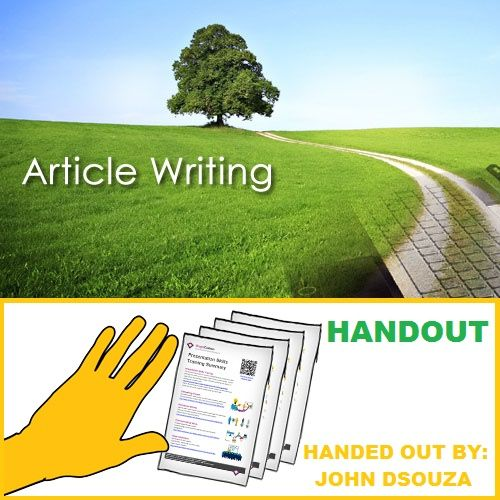 Article writing formats handout - writing formats