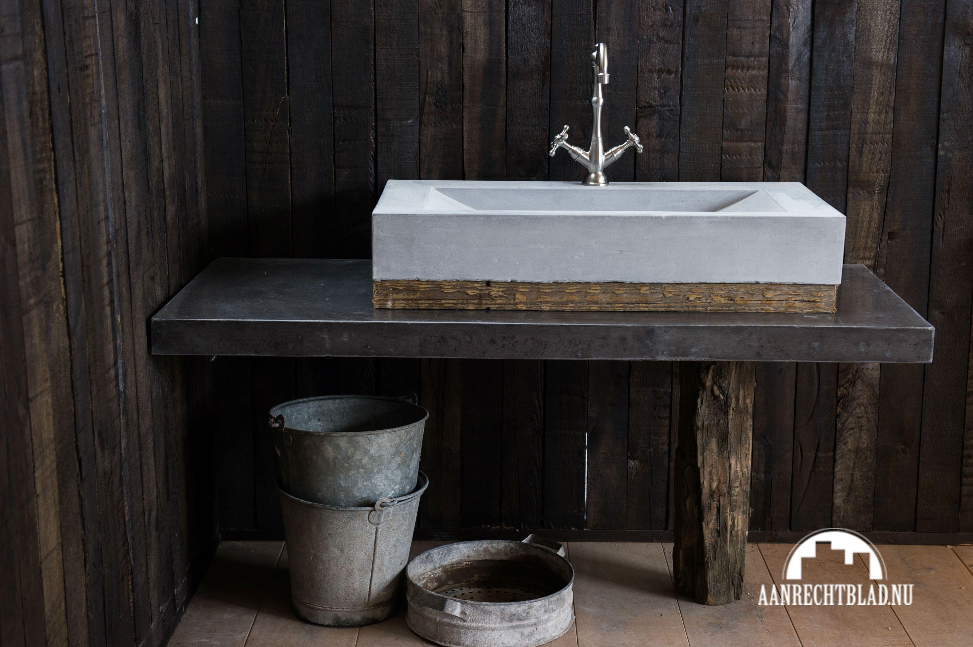 betonnen wasbak design badkamer meubel pinterest