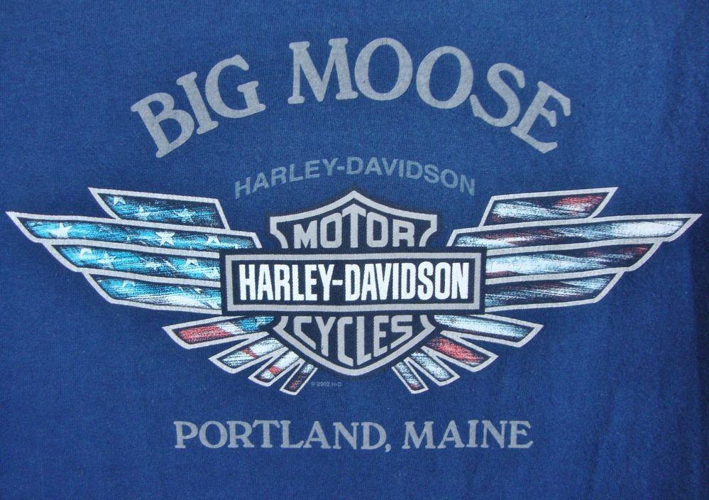 Harley Davidson Mens Pocket Tshirt XL Big Moose Portland