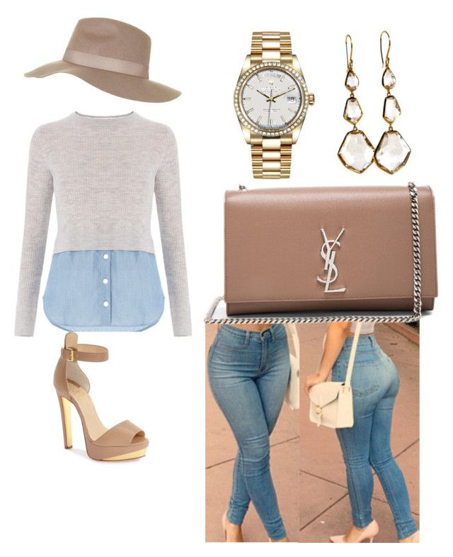 """Sin título #3"" by milly-holguin on Polyvore featuring moda, Christian Louboutin, Yves Saint Laurent, Topshop, Ippolita y Rolex"