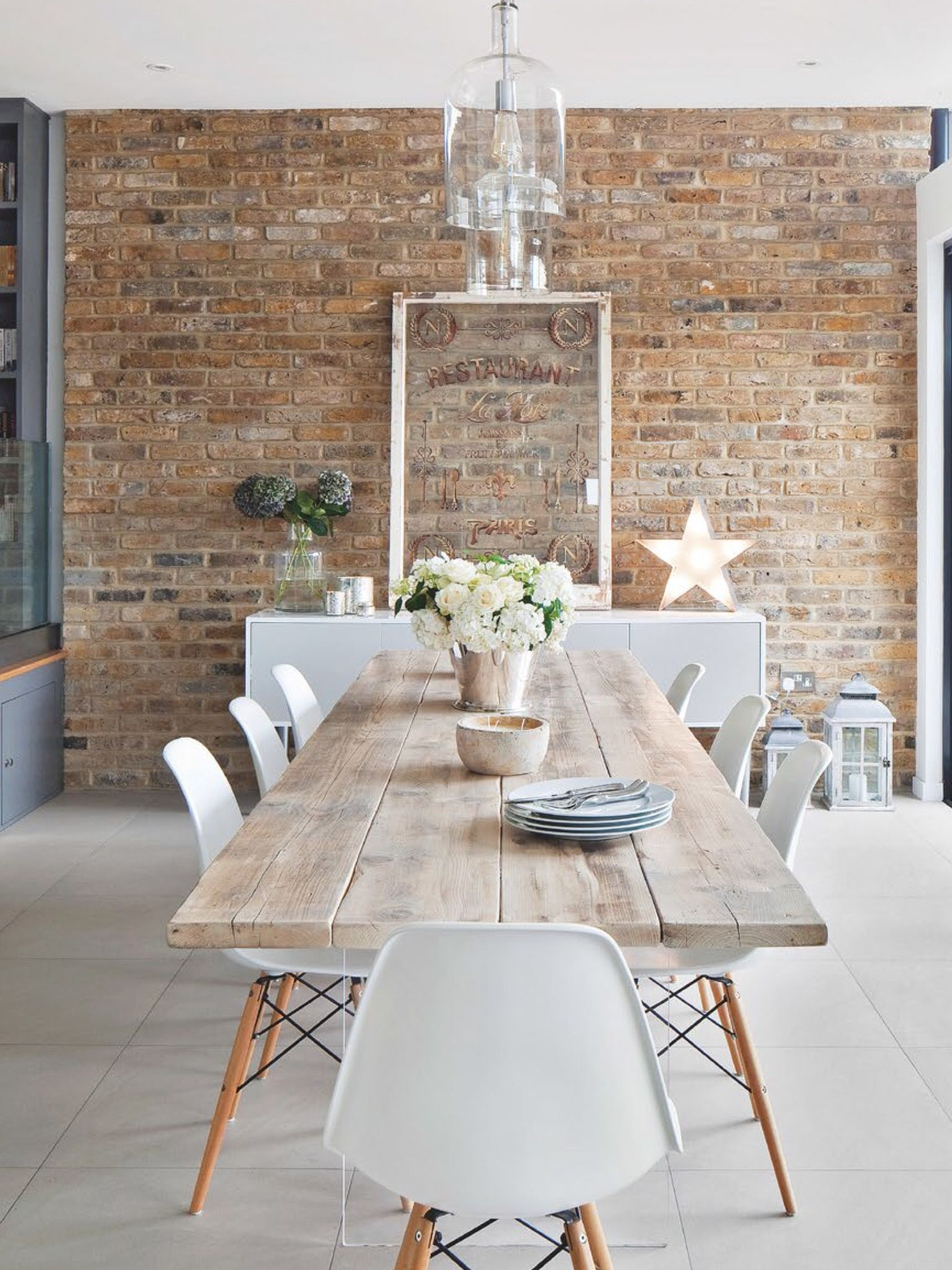 Scandinavian Design | Natural Wood Table, White Chairs | DINING ...