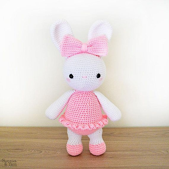 CROCHET PATTERN in English - Laurie the Ballerina Bunny - 14\