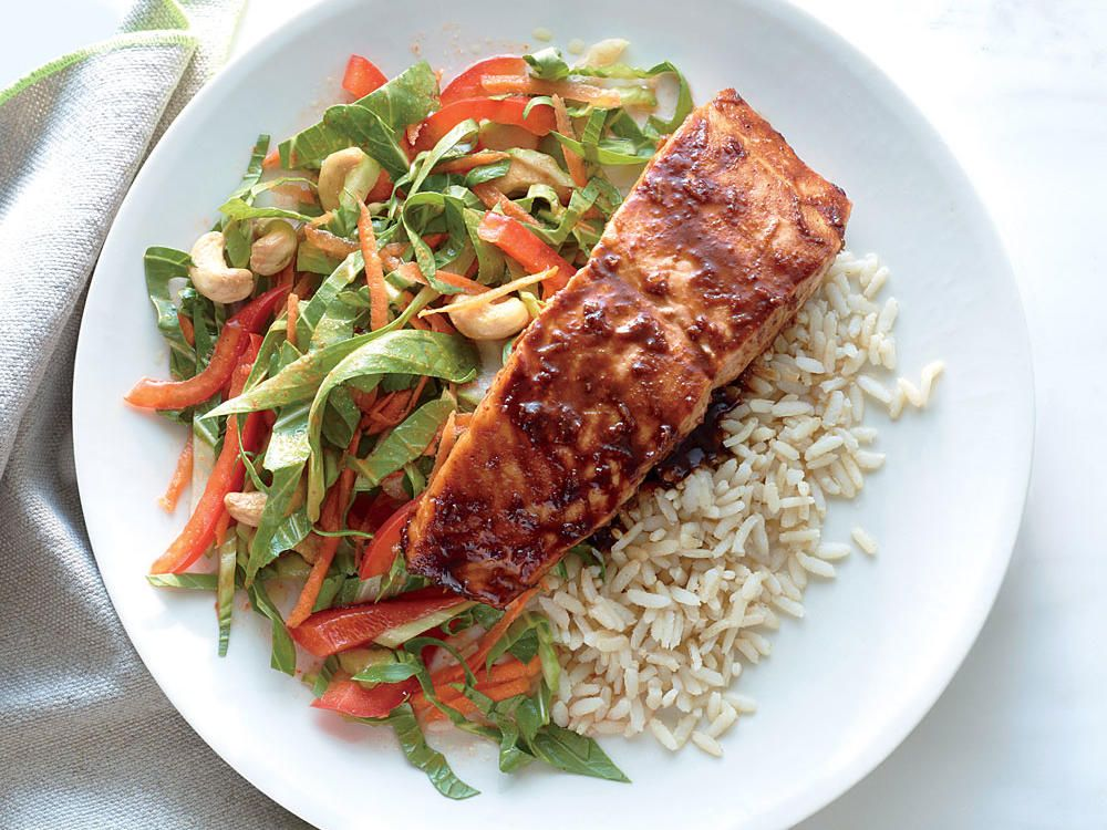 31-Day Healthy Meal Plan Salmon, Glaze and Limes - healthy meal plan