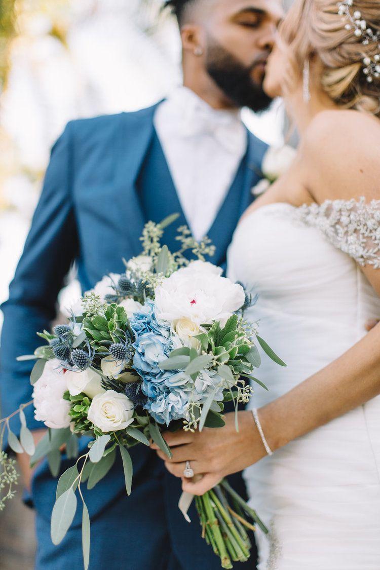 Flowers By Down Emery Lane Dusty Blue Wedding Blue Hydrangeas