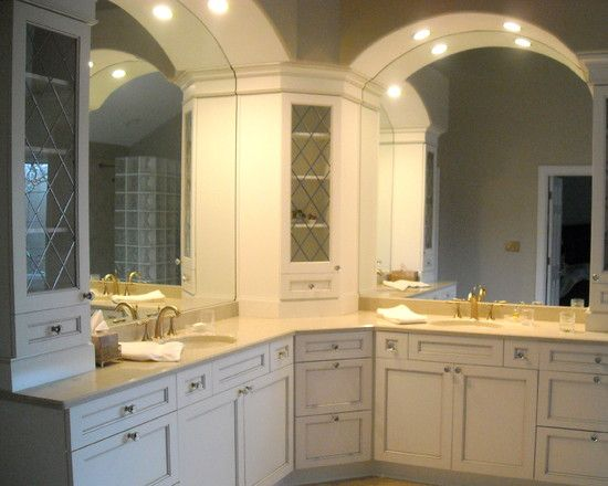 Bathroom Vanities Remodel bathroom l shaped vanity design, pictures, remodel, decor and