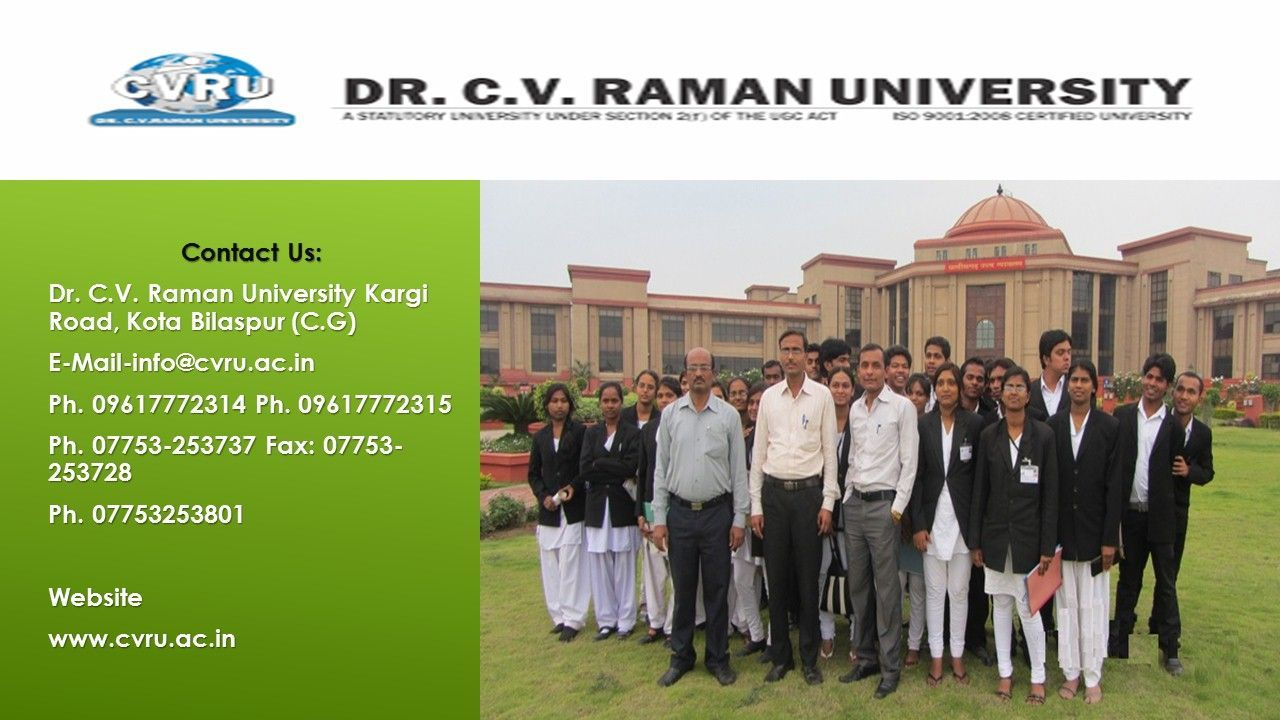 If you are apprehensive of taking admission in CV Raman