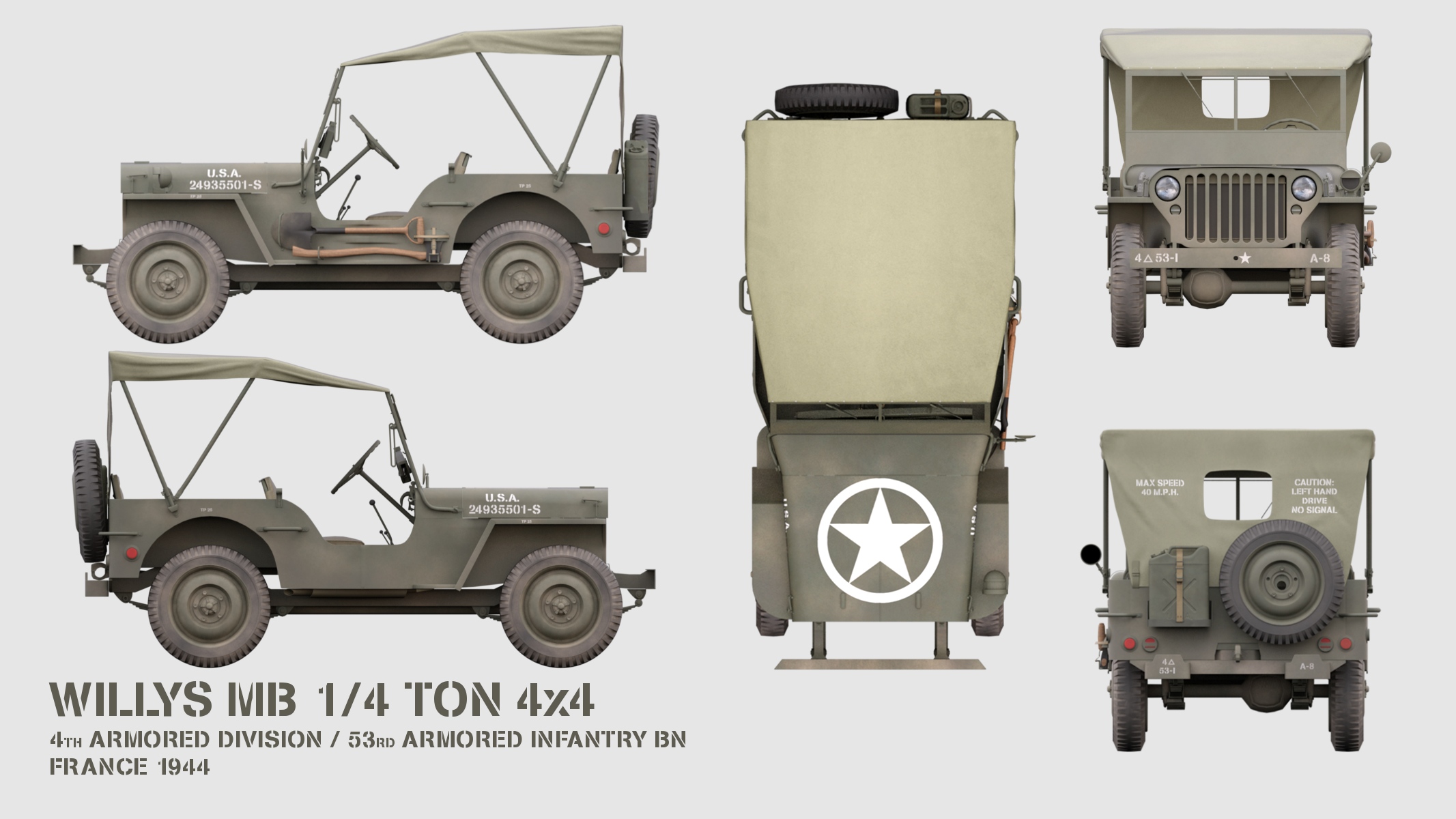 Profile Willys Mb 1 4ton 4x4 By Westfield3d Willys Mb Willys Willys Jeep