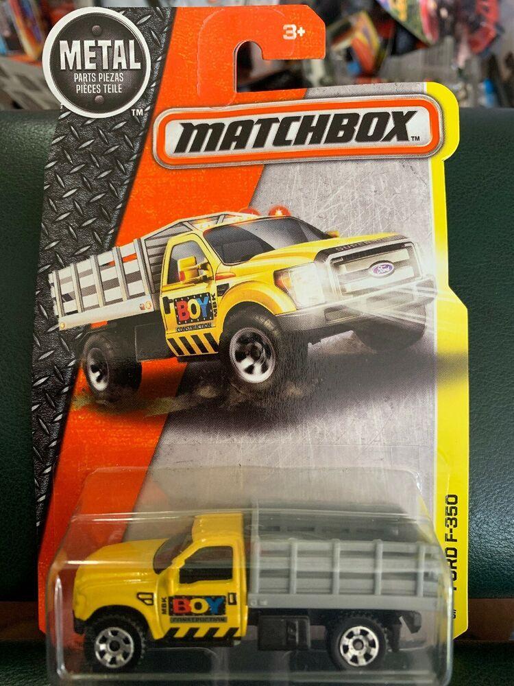 Matchbox 51 Ford F 350 Yellow Pickup Truck Mbx Construction Boy Ebay Matchbox Toy Police Cars Ford Trucks