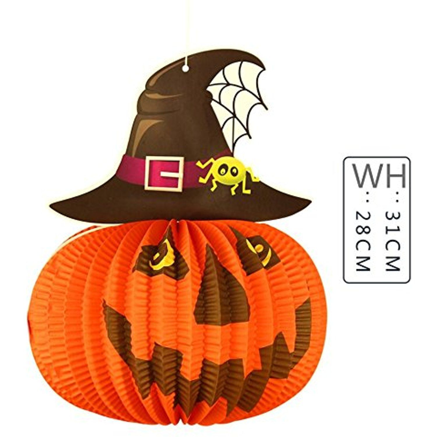 WEIYI 5pcs Halloween Outdoor Decorations Witch Hat Pumpkin Paper - Witch Decorations For Halloween
