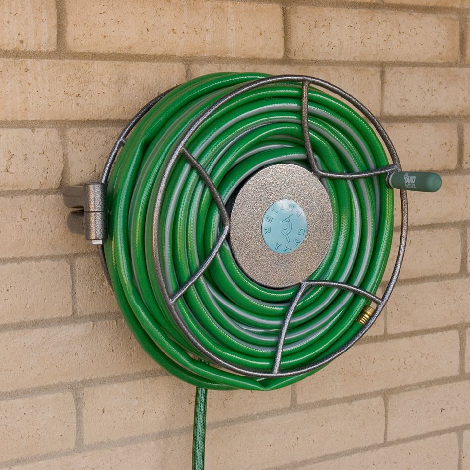 Wall Mounted Swivel Reel | Garden hose storage, Hose storage and ...