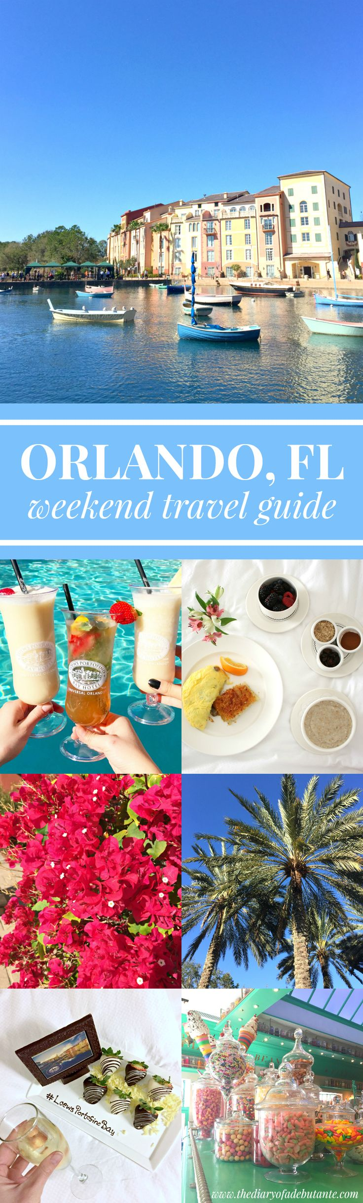 Travel guide to the ultimate romantic weekend getaway in Orlando, Florida. Highly recommend staying at the Loews Portofino Bay Hotel! Its Italian countryside-inspired property is stunning.