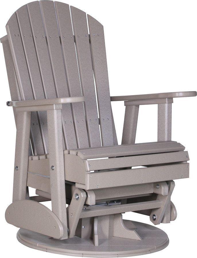 Luxcraft Recycled Plastic 2 Adirondack Swivel Glider Chair Glider Chair Swivel Glider Chair Swivel Glider
