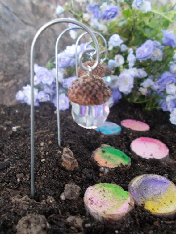 "Photo of Acorn Lantern Fairy ""Light"" (1) Fairy Garden Terrarium Potted Plant Fairy Miniatures"